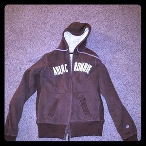 Abercrombie and Fitch brown kids sweater. Large